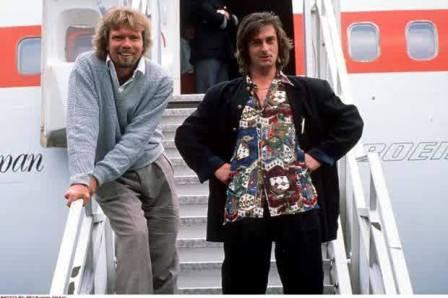 mike oldfield and another Richard Branson